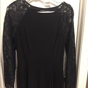 Cute black dress with lace sleeves